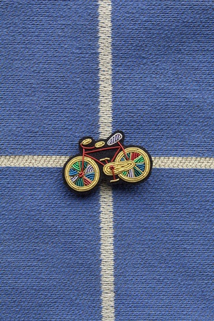 Hand Embroidered Brooch - Paradise Bike (Colour)