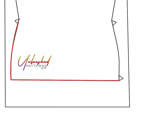 Graphic tracing front bodice