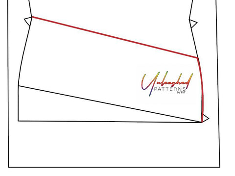 Graphic tracing upper pocket of Fearless