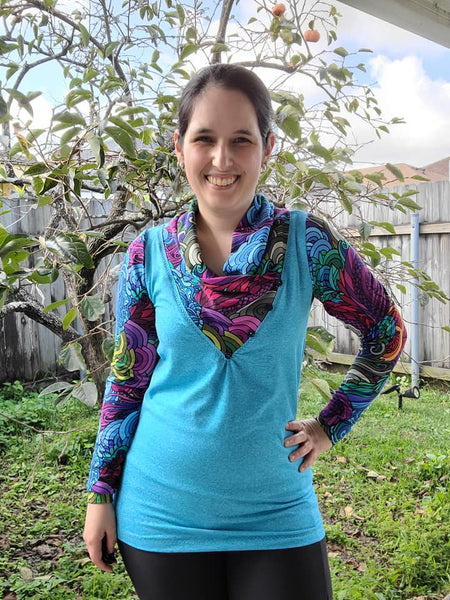 Unstoppable: Cowl neck shirt and tunic