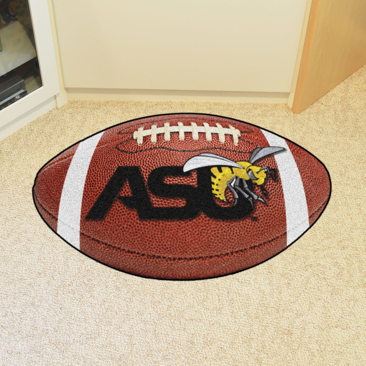 Collegiate - Football Mat: A - K Collegiate Mats, Rectangular Mats, Football Mat, Collegiate, Home Fan Mats Alabama State
