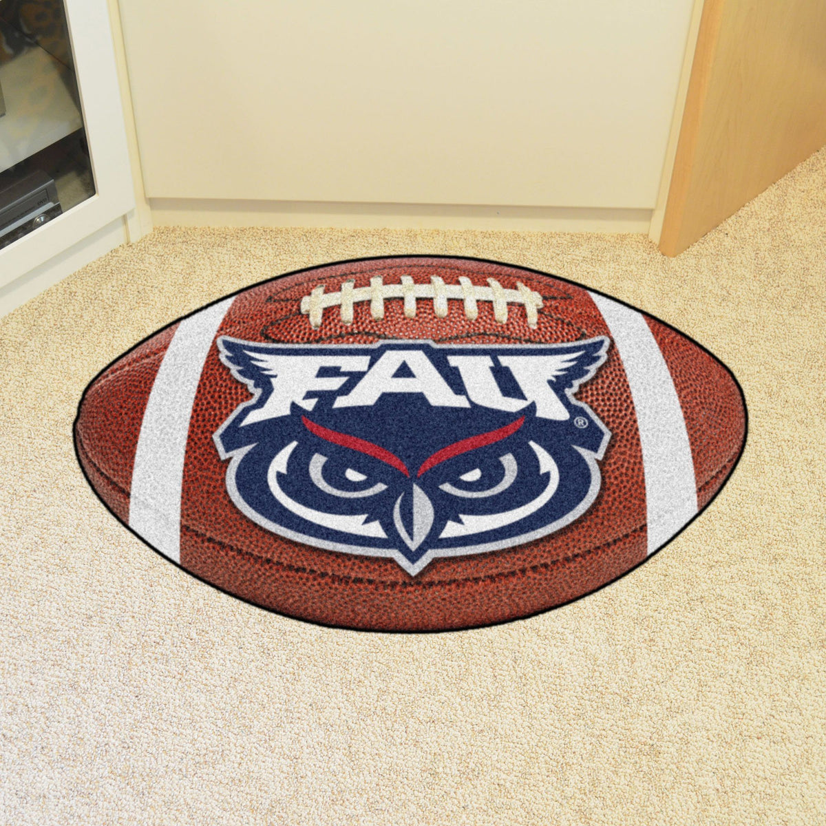 Collegiate - Football Mat: A - K Collegiate Mats, Rectangular Mats, Football Mat, Collegiate, Home Fan Mats FAU