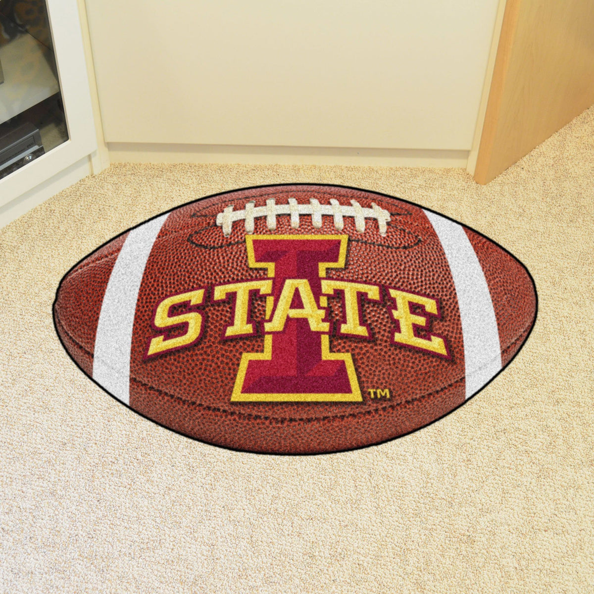 Collegiate - Football Mat: A - K Collegiate Mats, Rectangular Mats, Football Mat, Collegiate, Home Fan Mats Iowa State