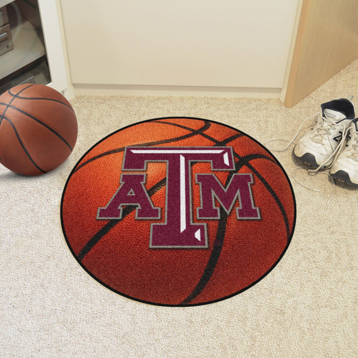 Collegiate - Basketball Mat: T - Z Collegiate Mats, Rectangular Mats, Basketball Mat, Collegiate, Home Fan Mats Texas A&M