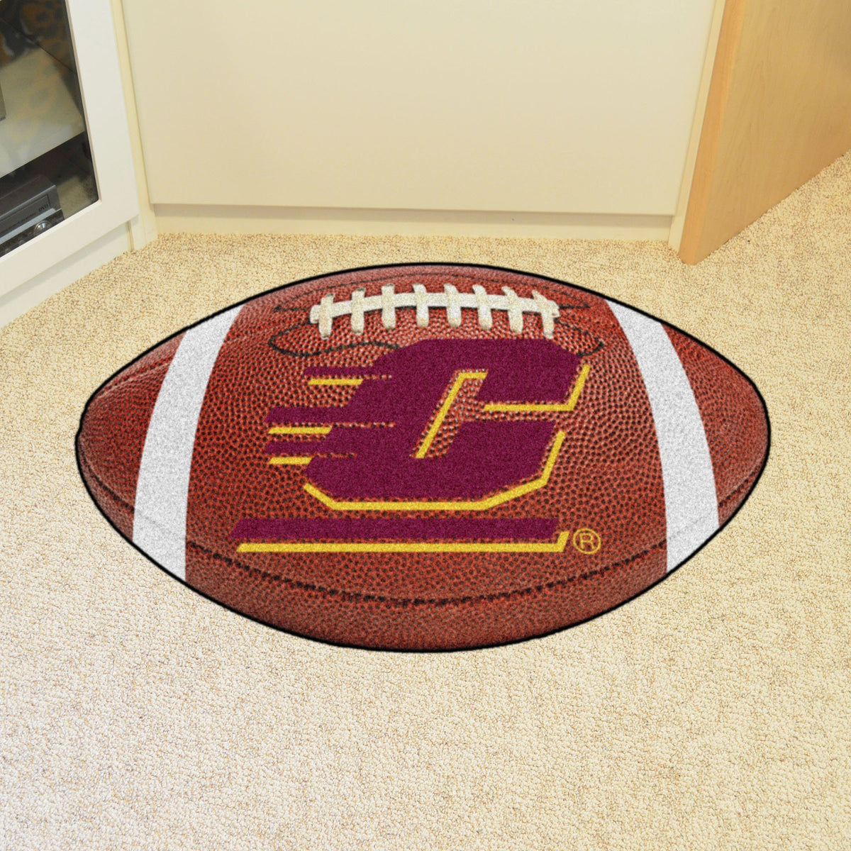Collegiate - Football Mat: A - K Collegiate Mats, Rectangular Mats, Football Mat, Collegiate, Home Fan Mats Central Michigan