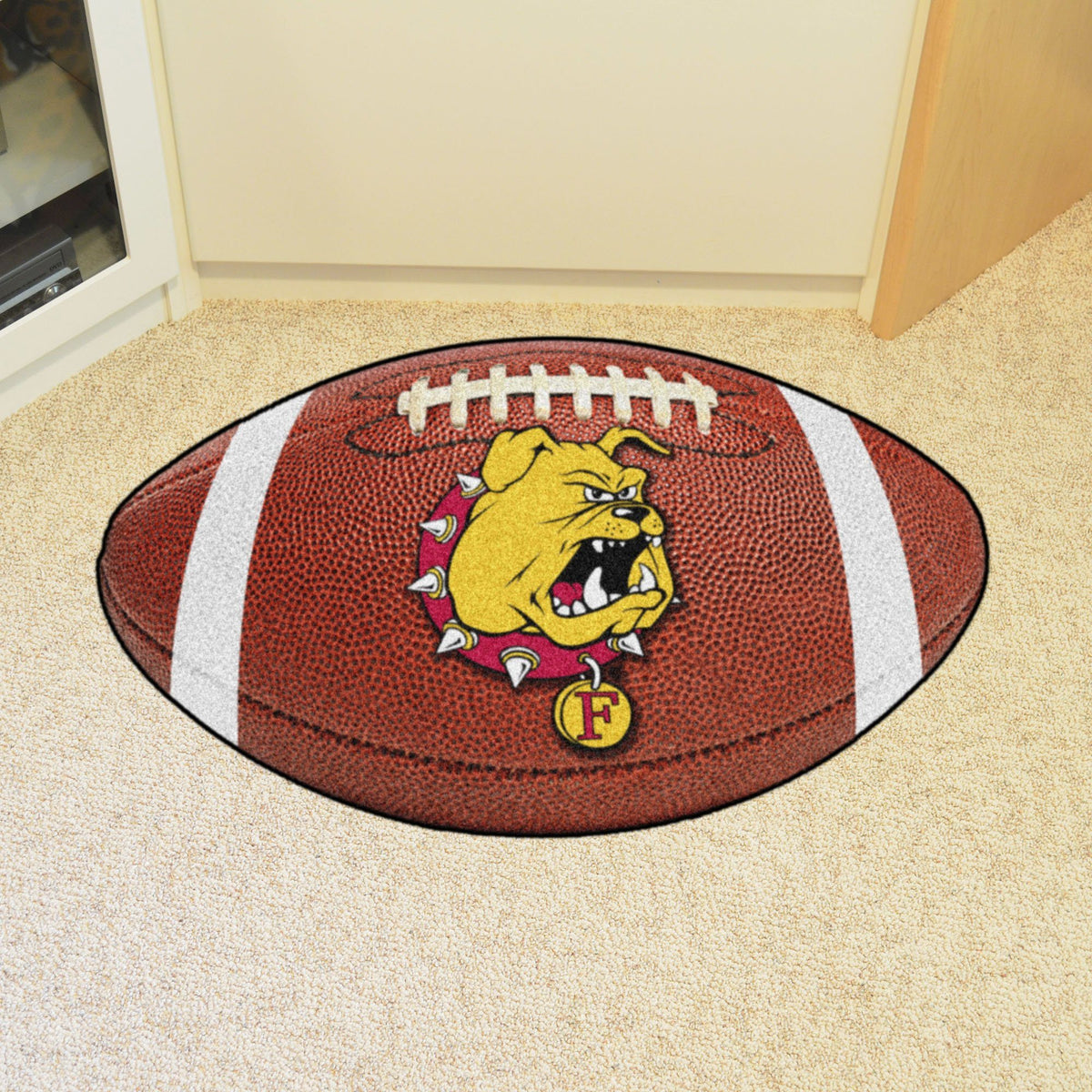 Collegiate - Football Mat: A - K Collegiate Mats, Rectangular Mats, Football Mat, Collegiate, Home Fan Mats Ferris State