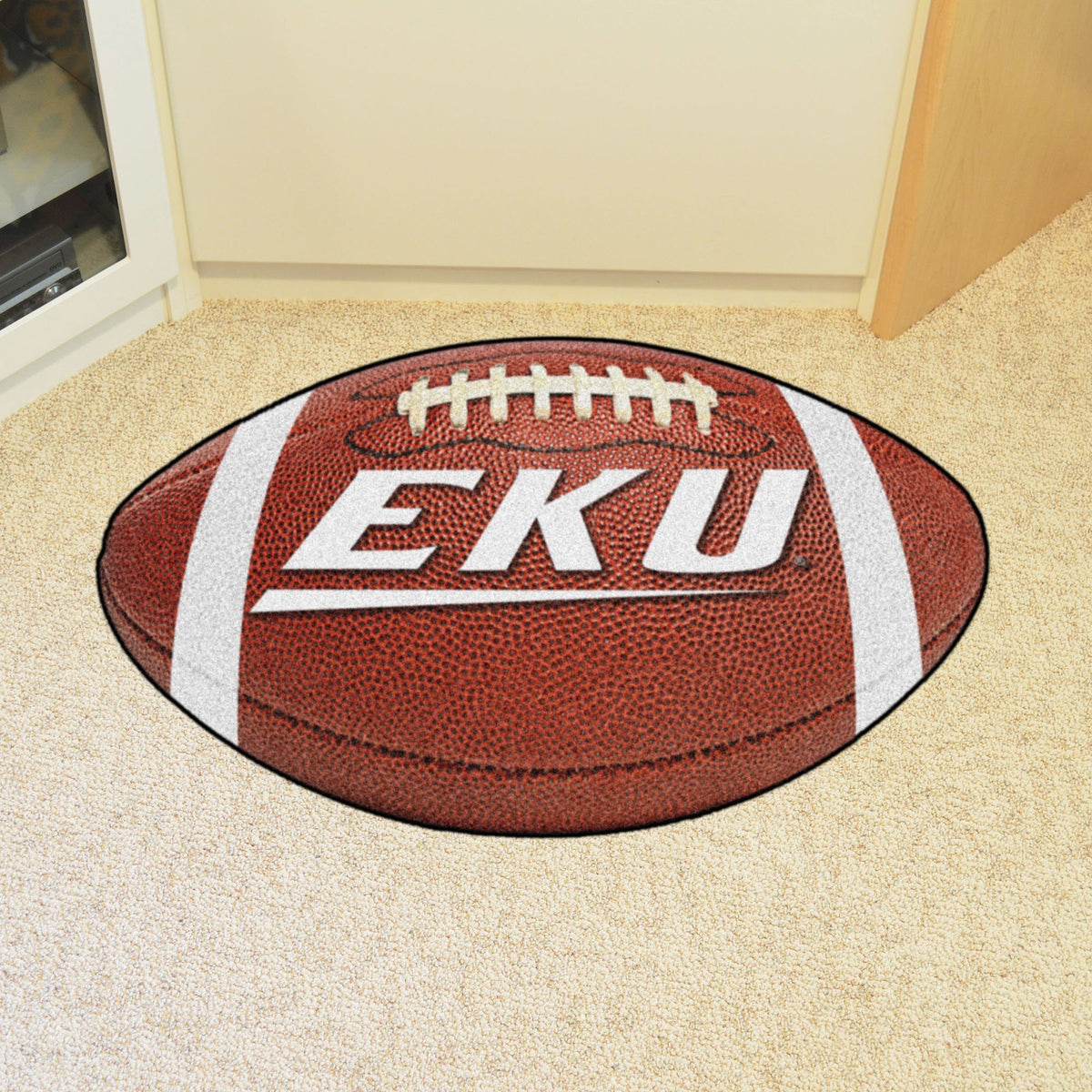 Collegiate - Football Mat: A - K Collegiate Mats, Rectangular Mats, Football Mat, Collegiate, Home Fan Mats Eastern Kentucky