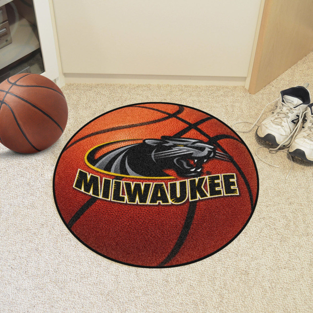 Collegiate - Basketball Mat: T - Z Collegiate Mats, Rectangular Mats, Basketball Mat, Collegiate, Home Fan Mats Wisconsin-Milwaukee