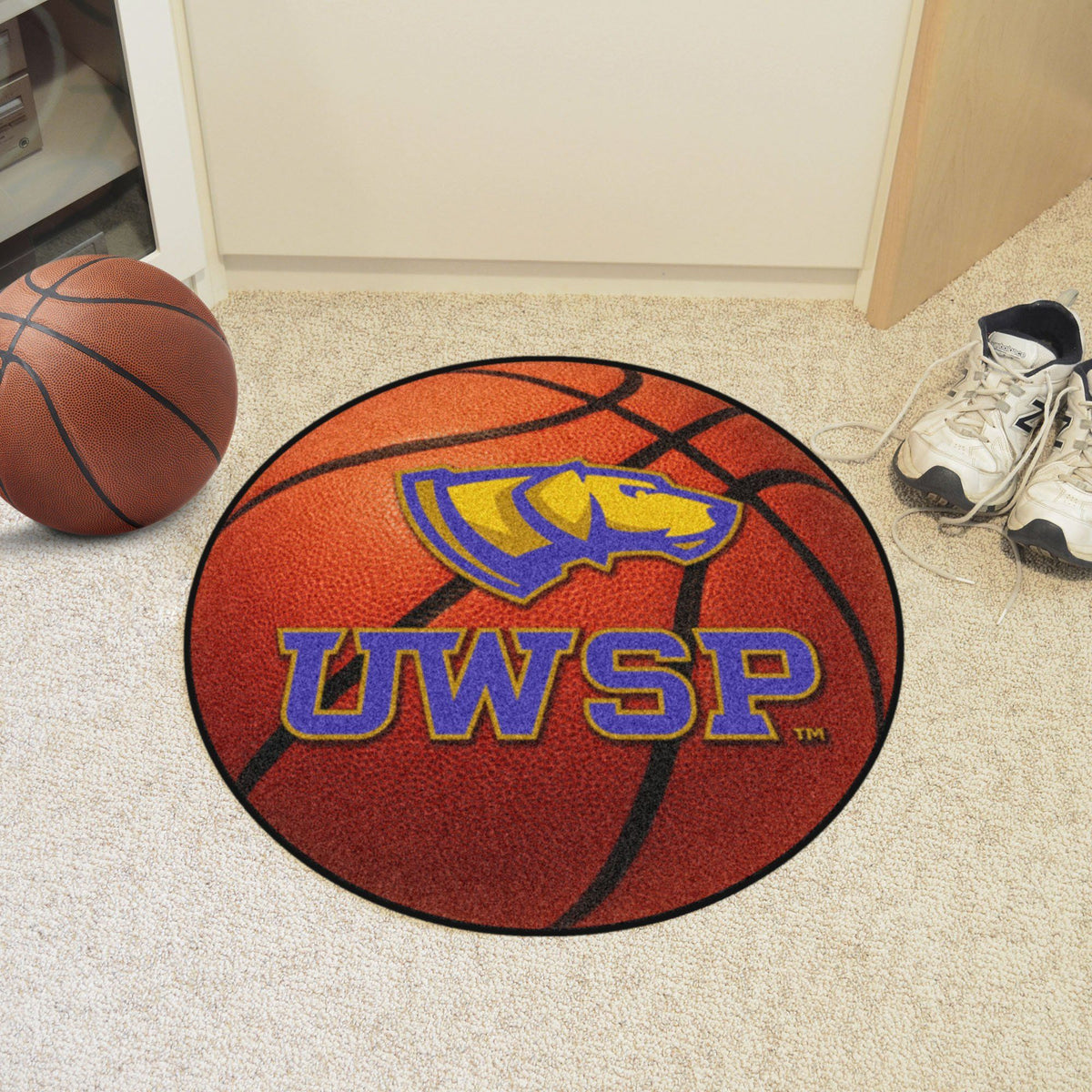 Collegiate - Basketball Mat: T - Z Collegiate Mats, Rectangular Mats, Basketball Mat, Collegiate, Home Fan Mats Wisconsin-Stevens Point