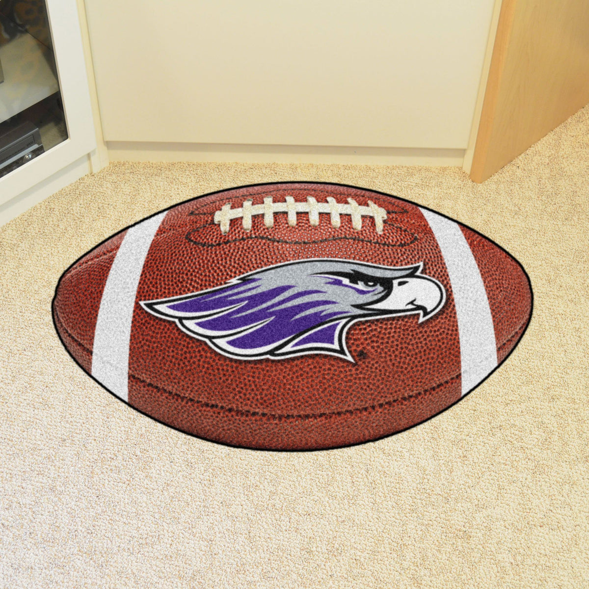 Collegiate - Football Mat: T - Z Collegiate Mats, Rectangular Mats, Football Mat, Collegiate, Home Fan Mats Wisconsin-Whitewater