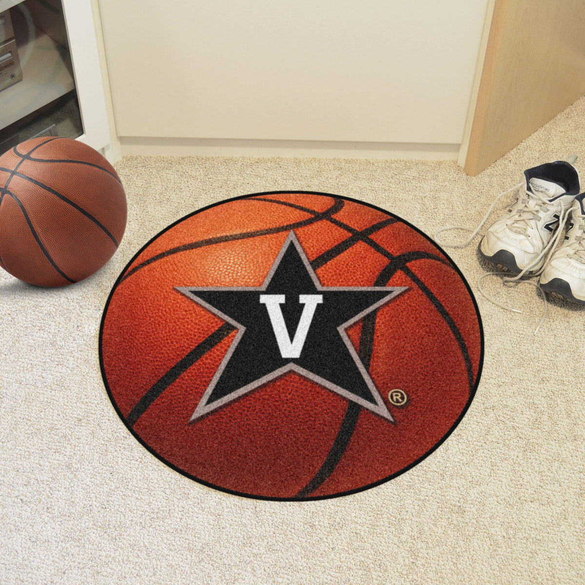 Collegiate - Basketball Mat: T - Z Collegiate Mats, Rectangular Mats, Basketball Mat, Collegiate, Home Fan Mats Vanderbilt