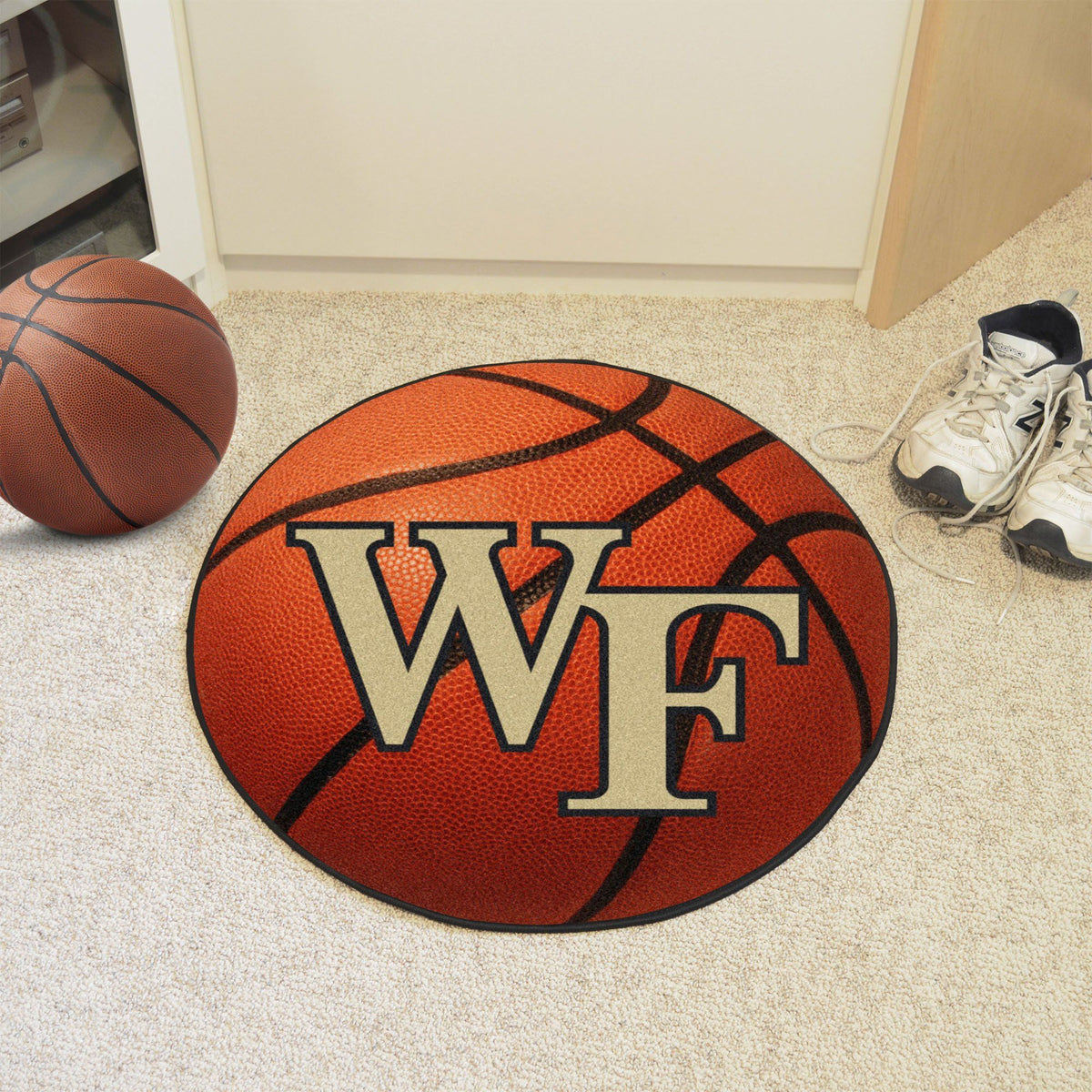 Collegiate - Basketball Mat: T - Z Collegiate Mats, Rectangular Mats, Basketball Mat, Collegiate, Home Fan Mats Wake Forest