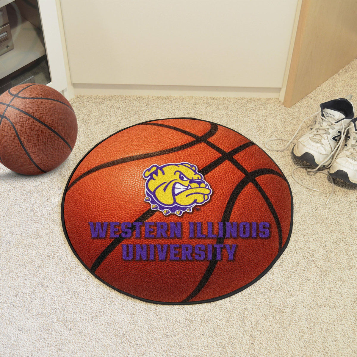 Collegiate - Basketball Mat: T - Z Collegiate Mats, Rectangular Mats, Basketball Mat, Collegiate, Home Fan Mats Western Illinois