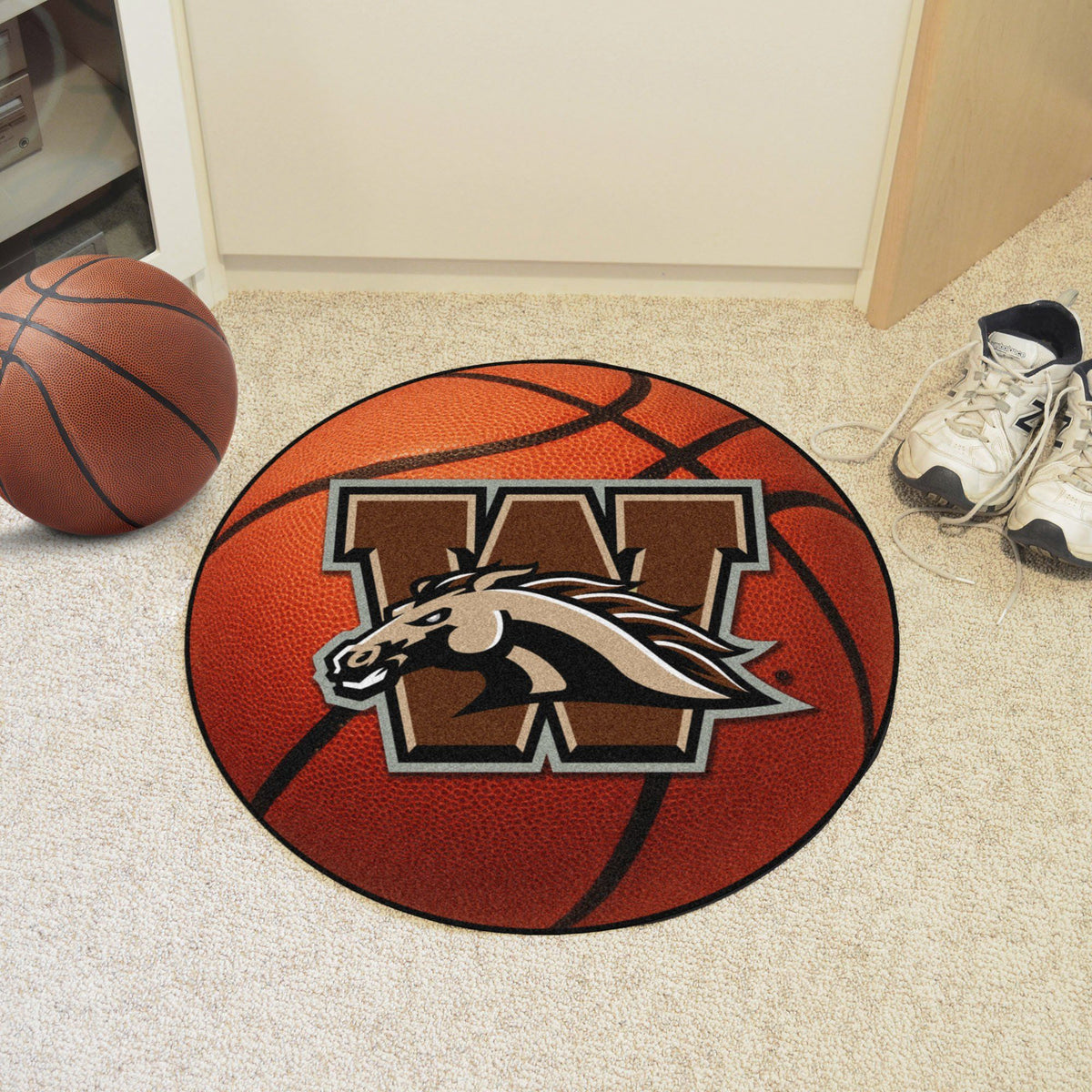 Collegiate - Basketball Mat: T - Z Collegiate Mats, Rectangular Mats, Basketball Mat, Collegiate, Home Fan Mats Western Michigan