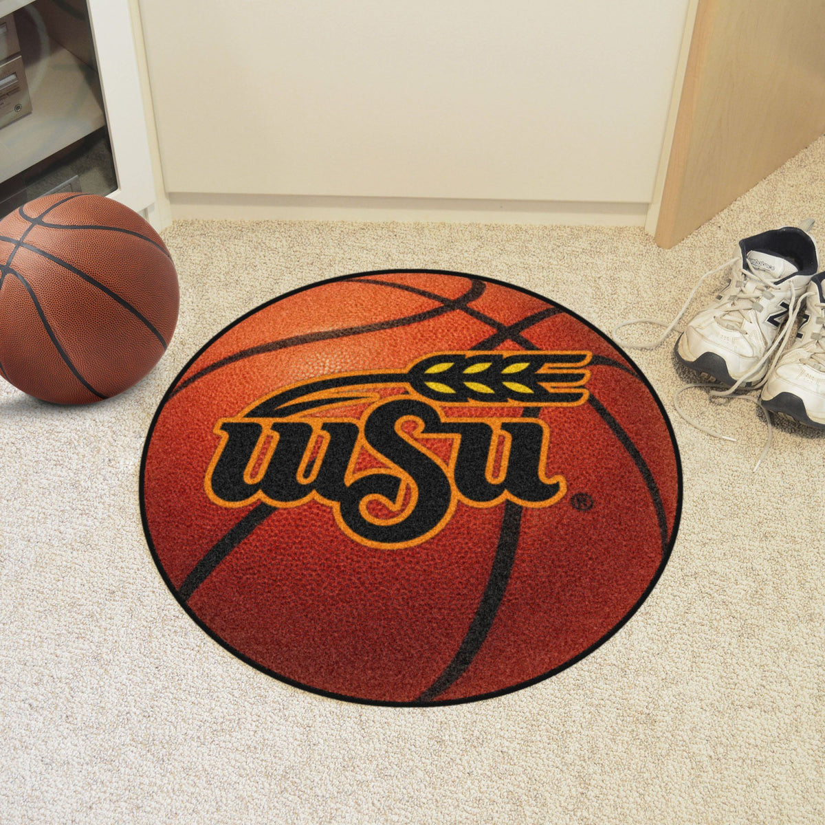 Collegiate - Basketball Mat: T - Z Collegiate Mats, Rectangular Mats, Basketball Mat, Collegiate, Home Fan Mats Wichita State