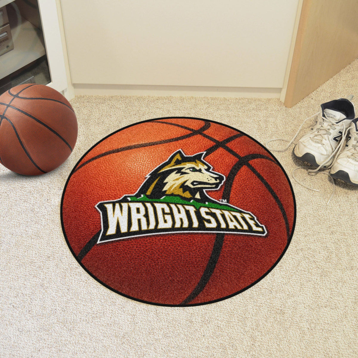 Collegiate - Basketball Mat: T - Z Collegiate Mats, Rectangular Mats, Basketball Mat, Collegiate, Home Fan Mats Wright State