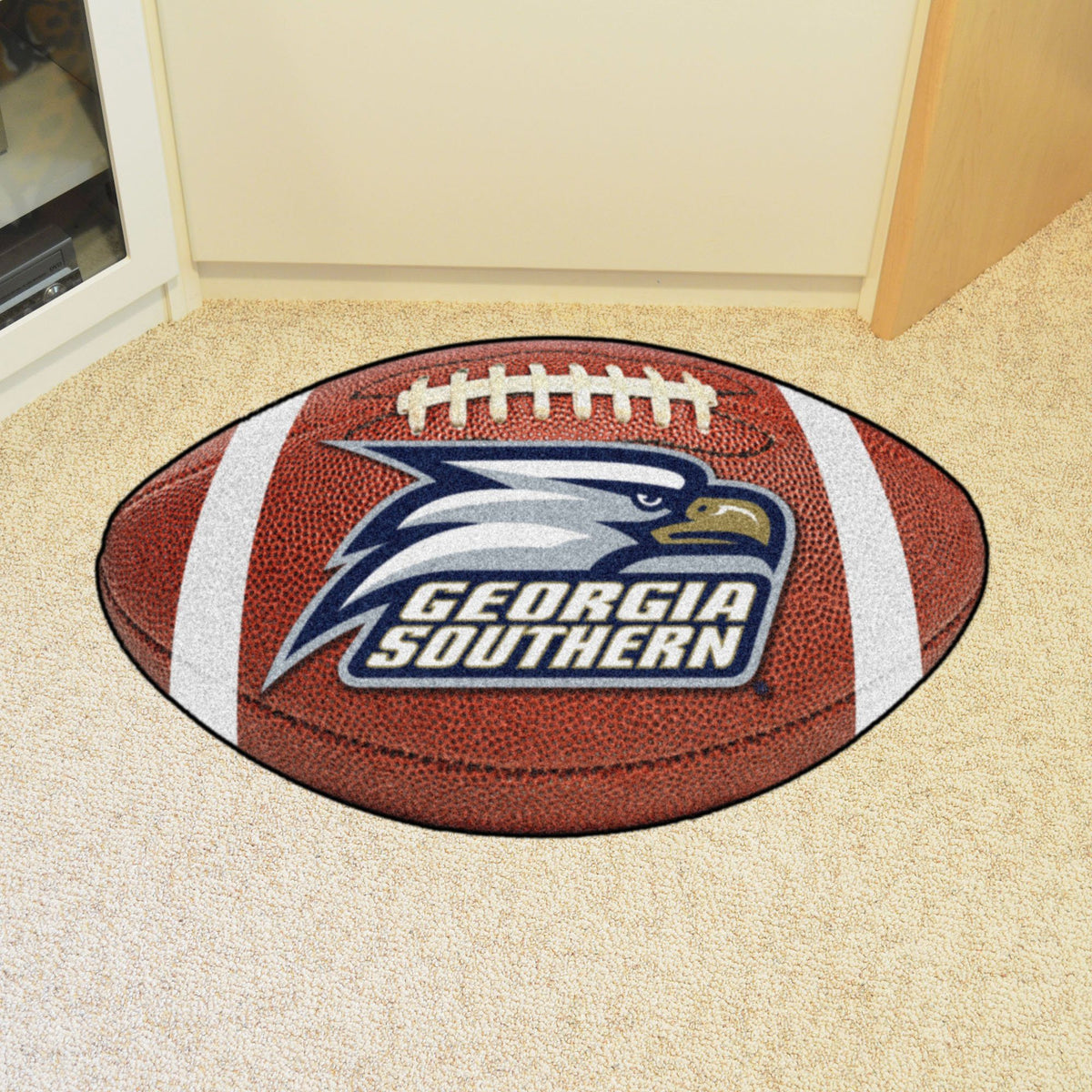 Collegiate - Football Mat: A - K Collegiate Mats, Rectangular Mats, Football Mat, Collegiate, Home Fan Mats Georgia Southern