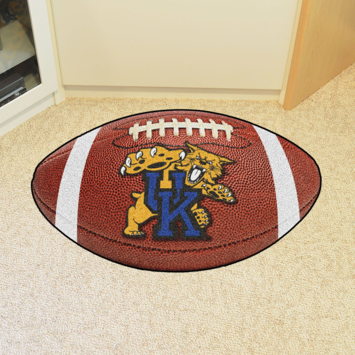 Collegiate - Football Mat: A - K Collegiate Mats, Rectangular Mats, Football Mat, Collegiate, Home Fan Mats Kentucky