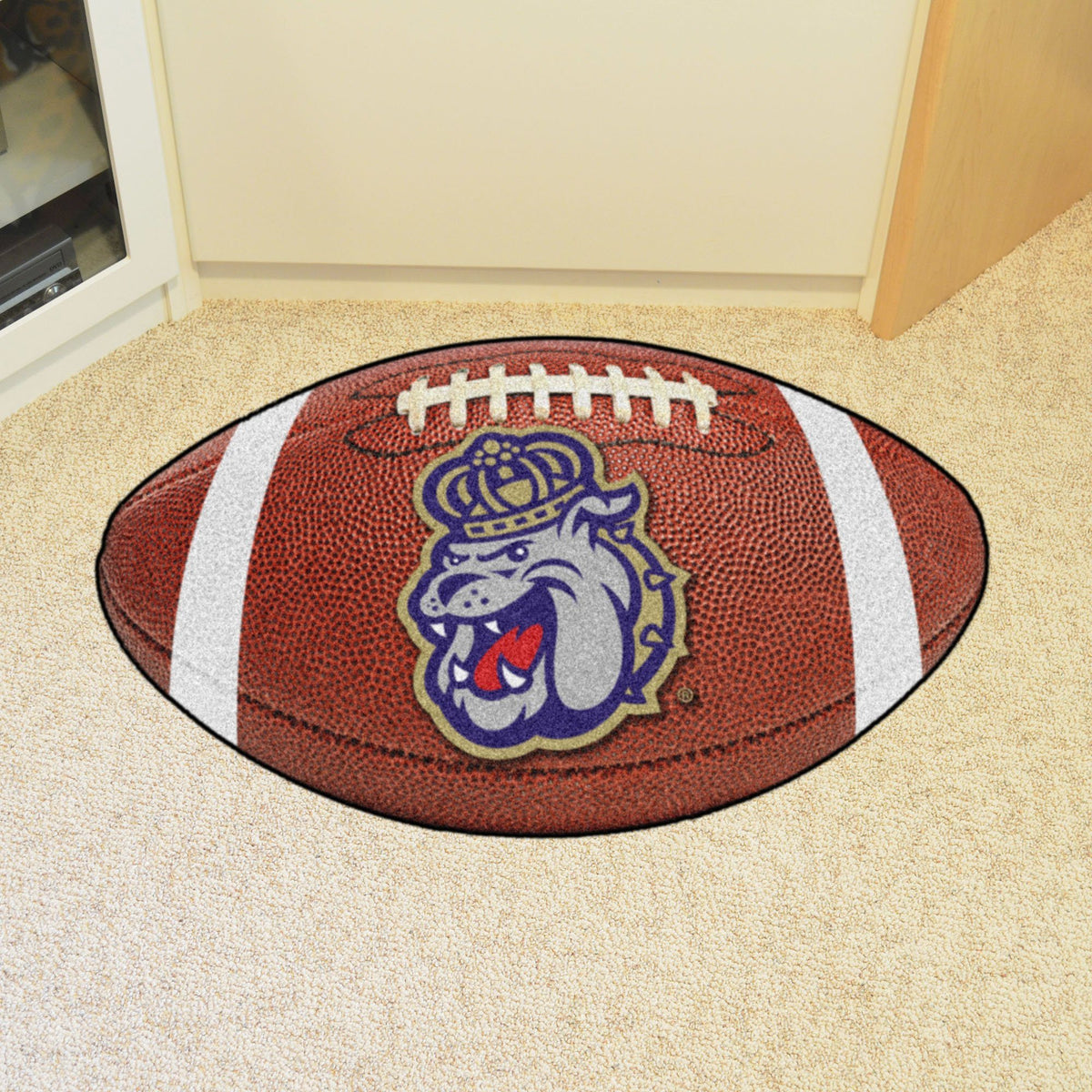 Collegiate - Football Mat: A - K Collegiate Mats, Rectangular Mats, Football Mat, Collegiate, Home Fan Mats James Madison