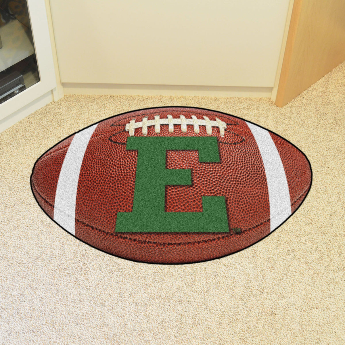Collegiate - Football Mat: A - K Collegiate Mats, Rectangular Mats, Football Mat, Collegiate, Home Fan Mats Eastern Michigan