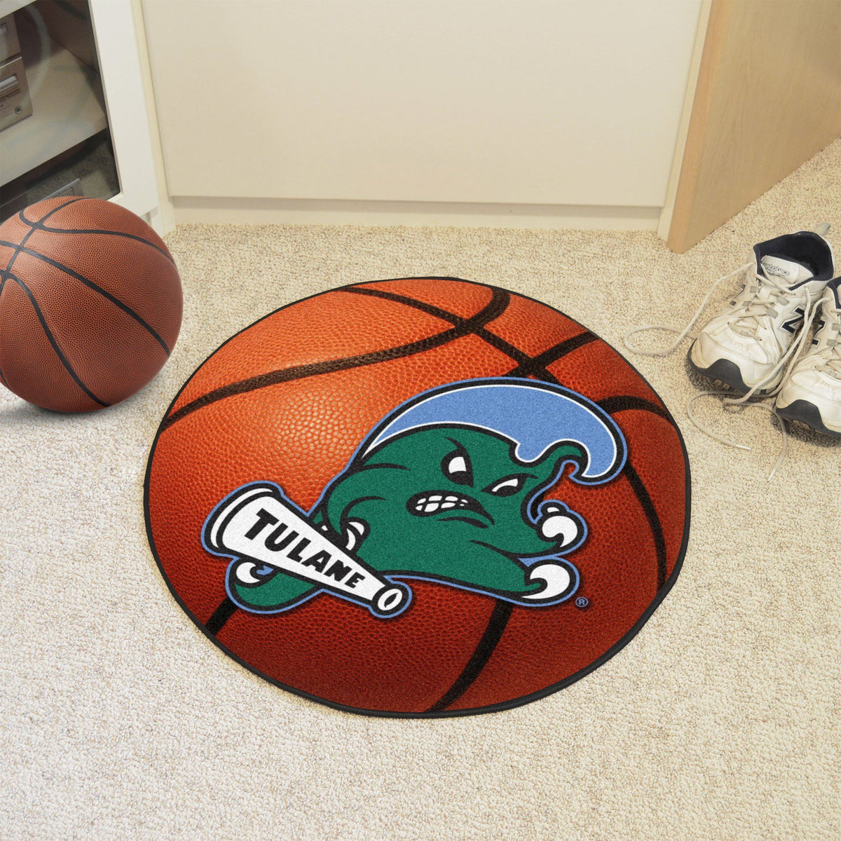 Collegiate - Basketball Mat: T - Z Collegiate Mats, Rectangular Mats, Basketball Mat, Collegiate, Home Fan Mats Tulane