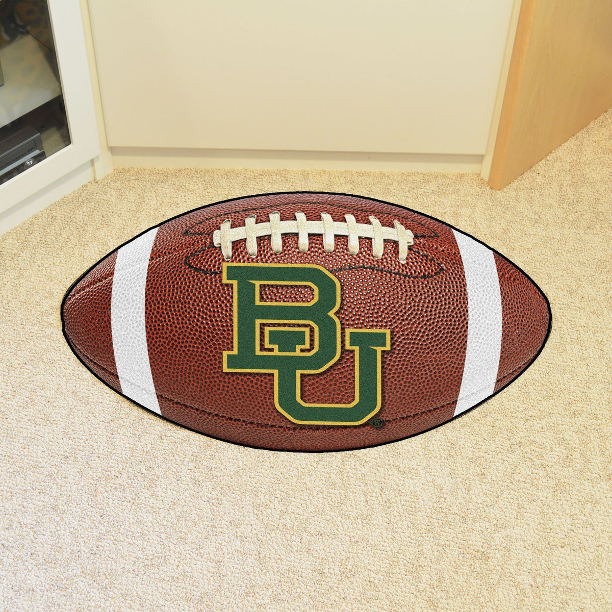 Collegiate - Football Mat: A - K Collegiate Mats, Rectangular Mats, Football Mat, Collegiate, Home Fan Mats Baylor