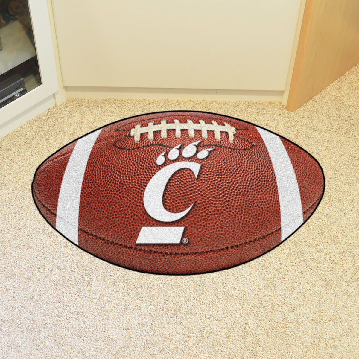Collegiate - Football Mat: A - K Collegiate Mats, Rectangular Mats, Football Mat, Collegiate, Home Fan Mats Cincinnati