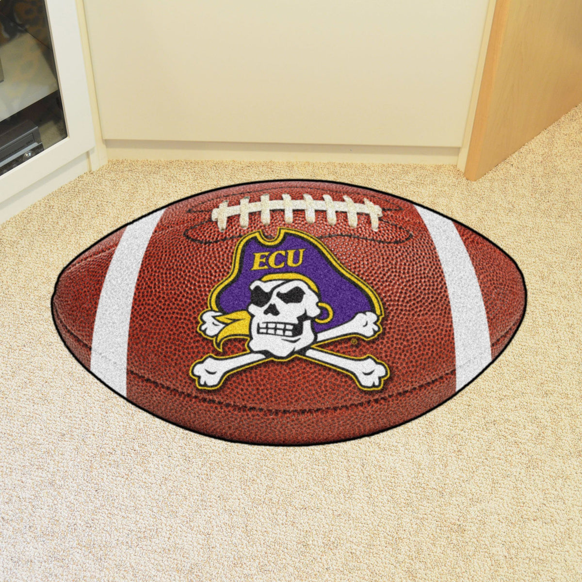 Collegiate - Football Mat: A - K Collegiate Mats, Rectangular Mats, Football Mat, Collegiate, Home Fan Mats East Carolina