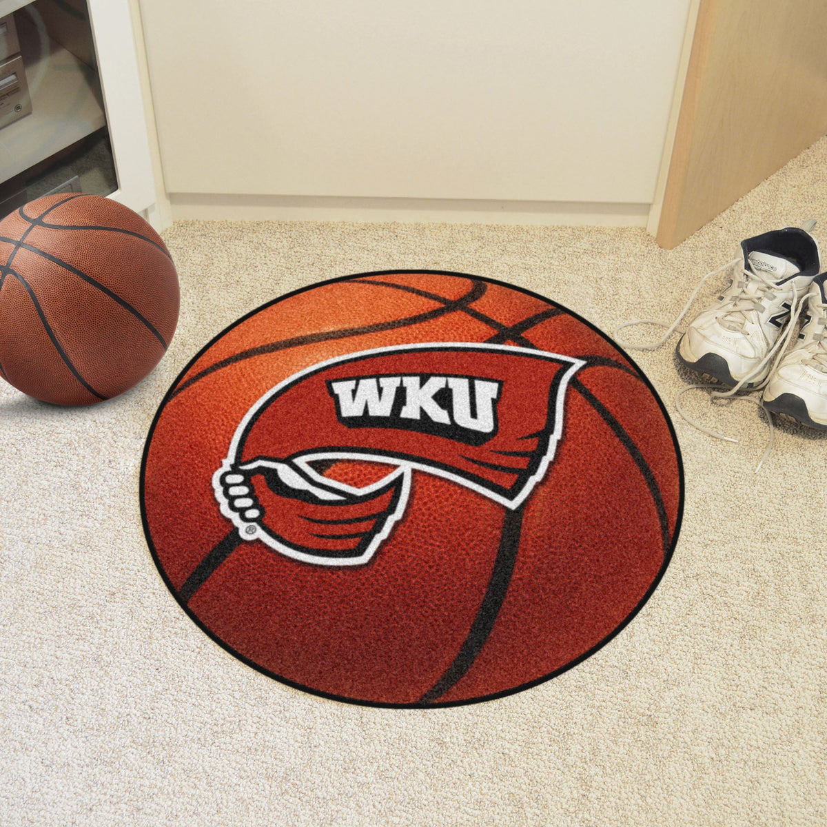 Collegiate - Basketball Mat: T - Z Collegiate Mats, Rectangular Mats, Basketball Mat, Collegiate, Home Fan Mats Western Kentucky