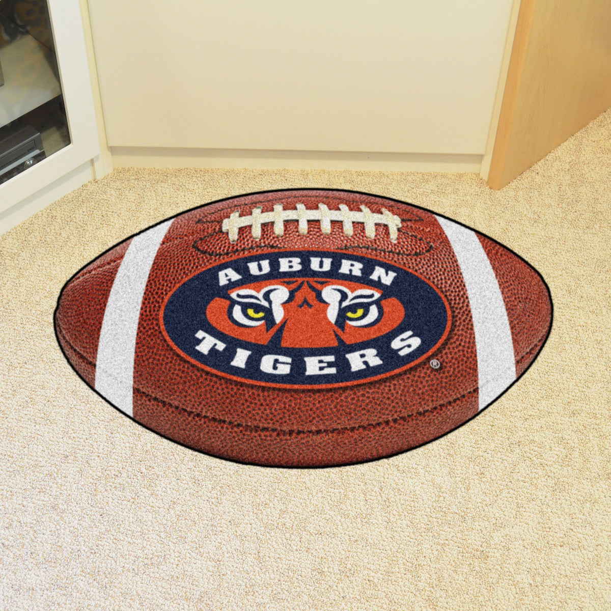 Collegiate - Football Mat: A - K Collegiate Mats, Rectangular Mats, Football Mat, Collegiate, Home Fan Mats Auburn