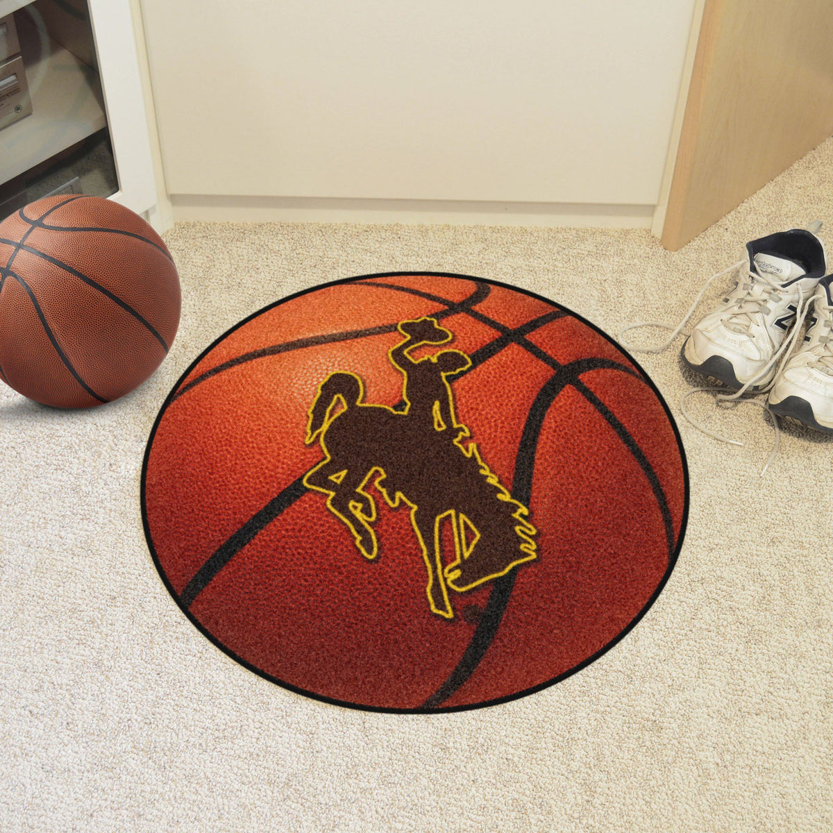 Collegiate - Basketball Mat: T - Z Collegiate Mats, Rectangular Mats, Basketball Mat, Collegiate, Home Fan Mats Wyoming