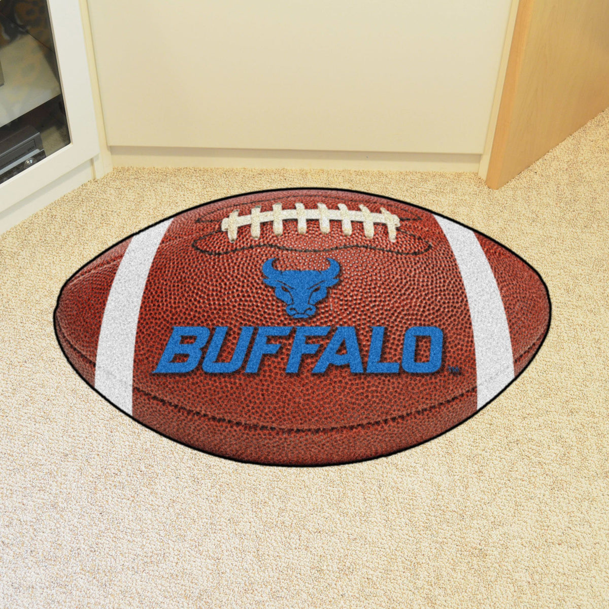 Collegiate - Football Mat: A - K Collegiate Mats, Rectangular Mats, Football Mat, Collegiate, Home Fan Mats Buffalo