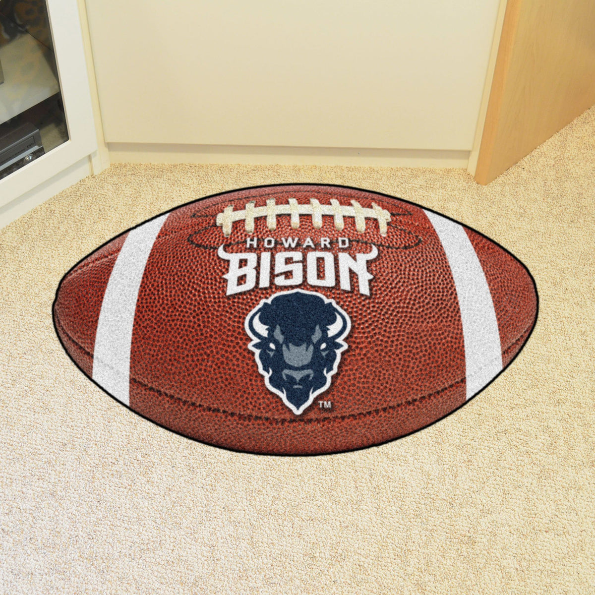 Collegiate - Football Mat: A - K Collegiate Mats, Rectangular Mats, Football Mat, Collegiate, Home Fan Mats Howard