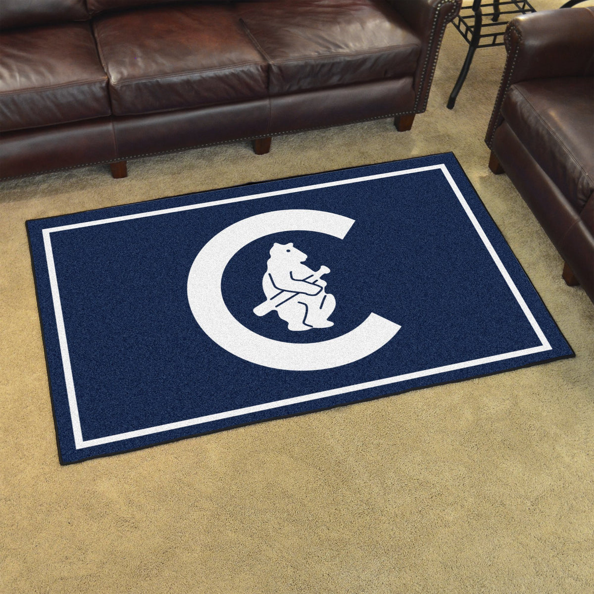 MLB Retro - 4' x 6' Rug MLB Retro Mats, Plush Rugs, 4x6 Rug, MLB, Home Fan Mats Chicago Cubs