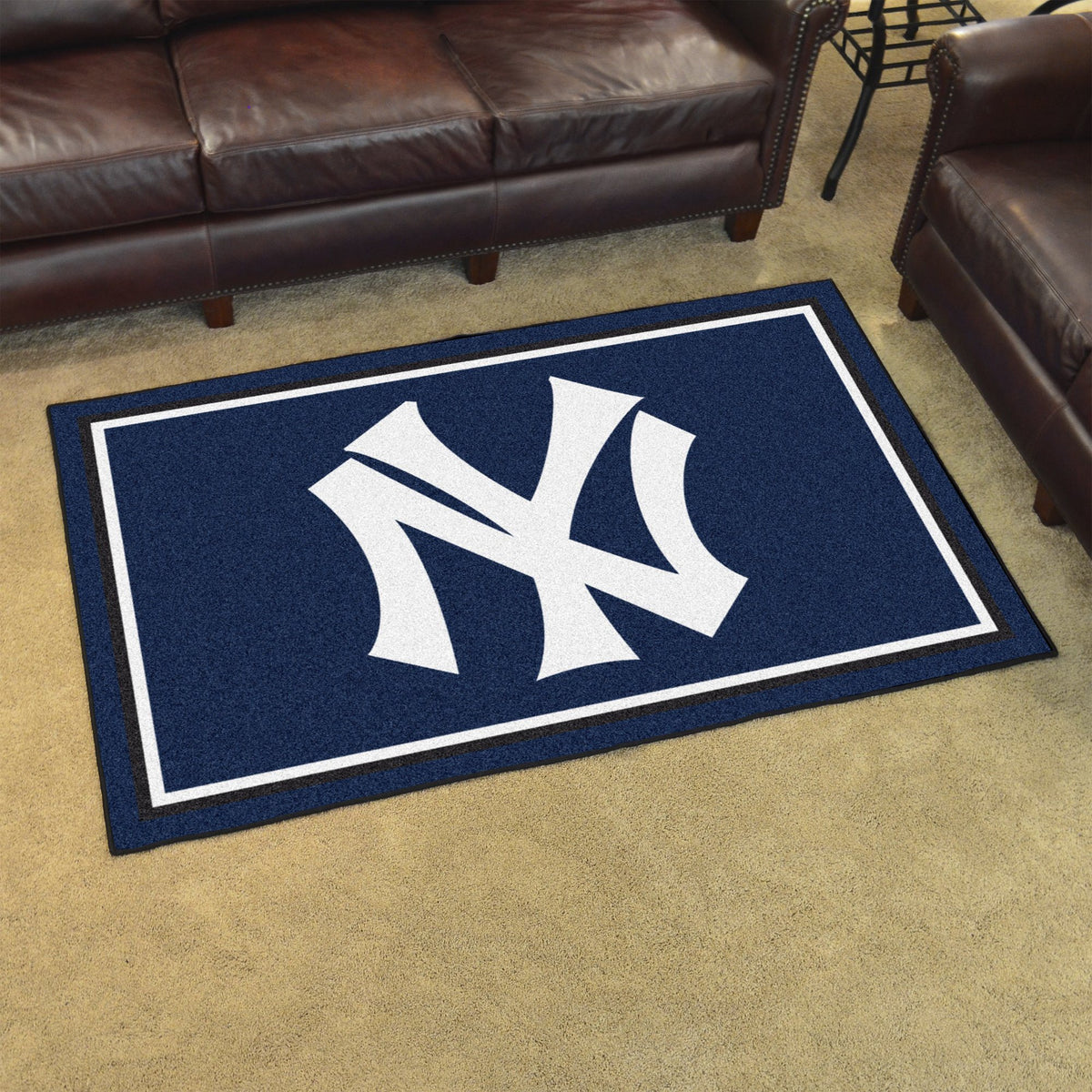 MLB Retro - 4' x 6' Rug MLB Retro Mats, Plush Rugs, 4x6 Rug, MLB, Home Fan Mats New York Yankees
