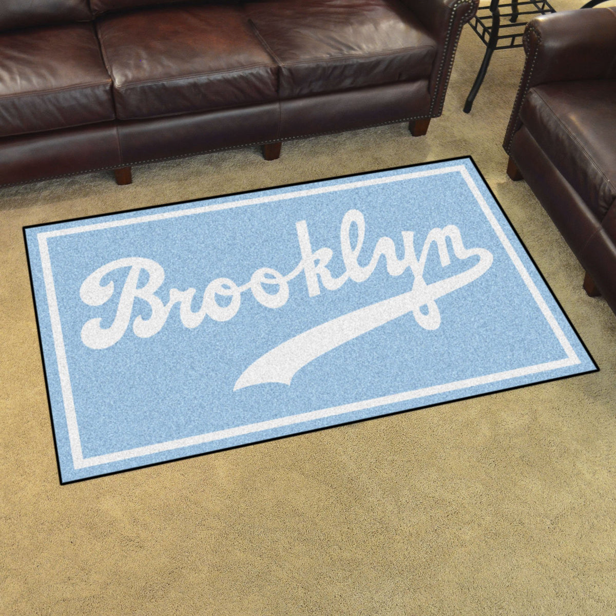 MLB Retro - 4' x 6' Rug MLB Retro Mats, Plush Rugs, 4x6 Rug, MLB, Home Fan Mats Brooklyn Dodgers