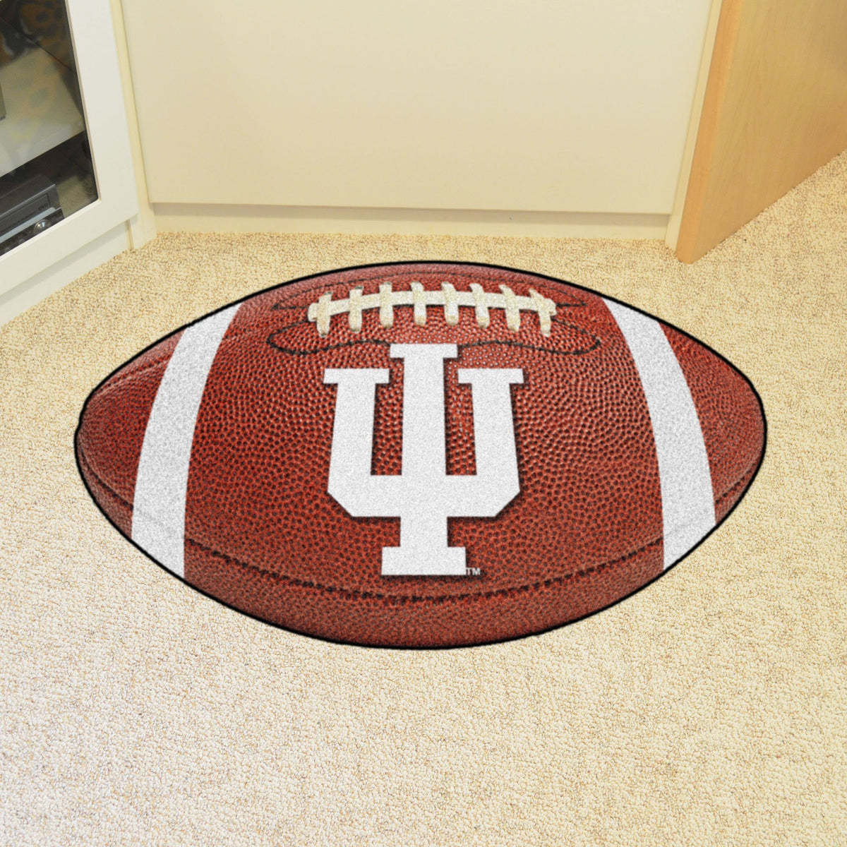 Collegiate - Football Mat: A - K Collegiate Mats, Rectangular Mats, Football Mat, Collegiate, Home Fan Mats Indiana