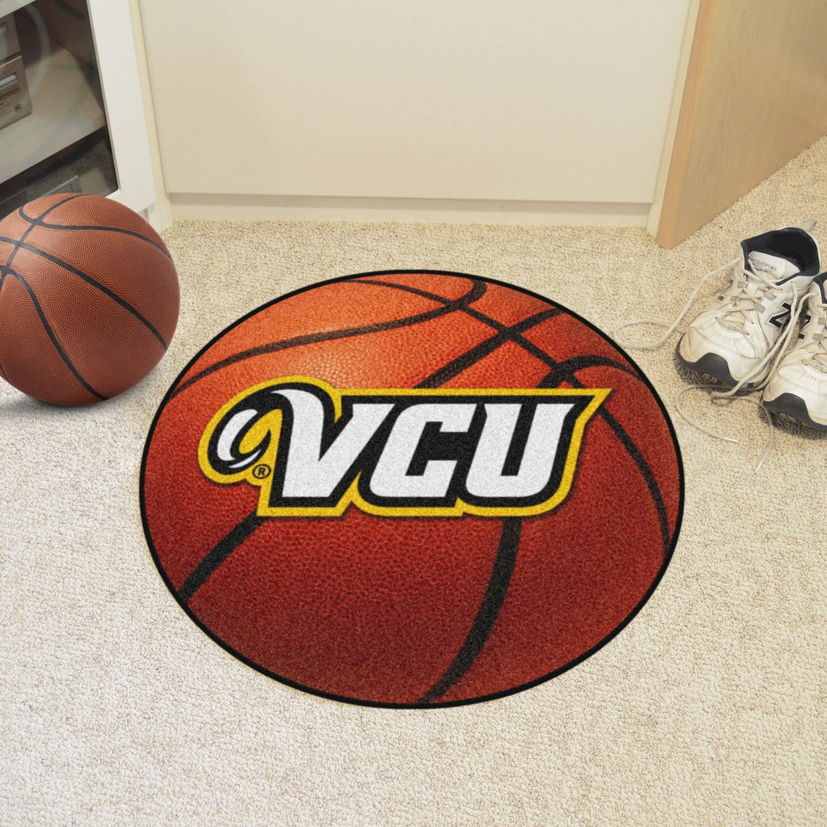 Collegiate - Basketball Mat: T - Z Collegiate Mats, Rectangular Mats, Basketball Mat, Collegiate, Home Fan Mats VCU