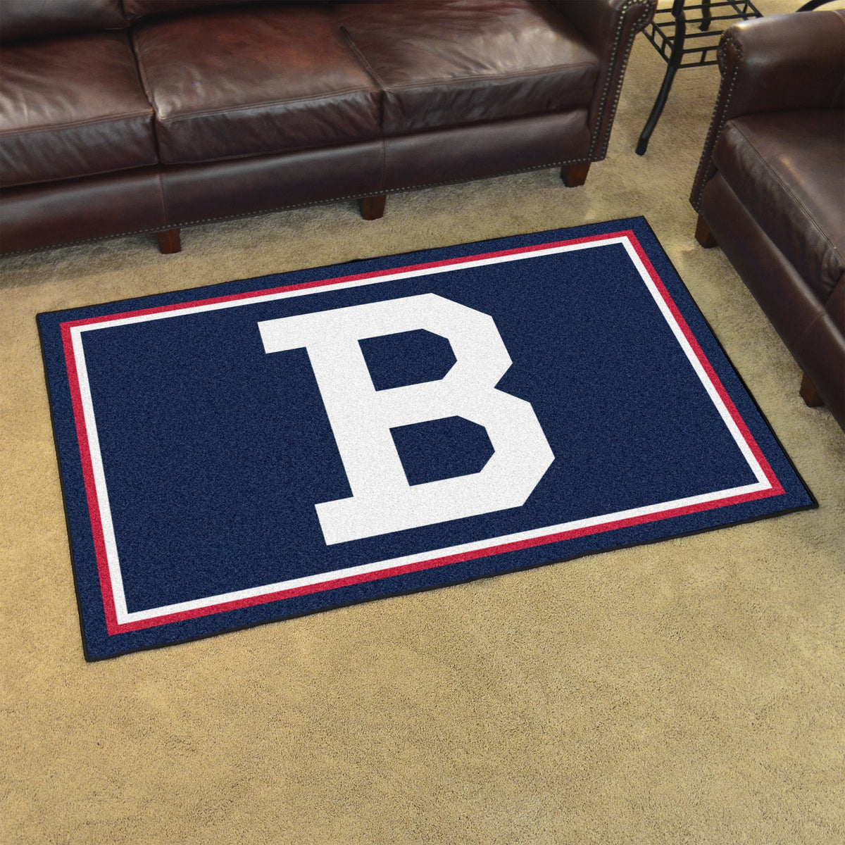 MLB Retro - 4' x 6' Rug MLB Retro Mats, Plush Rugs, 4x6 Rug, MLB, Home Fan Mats Boston Braves