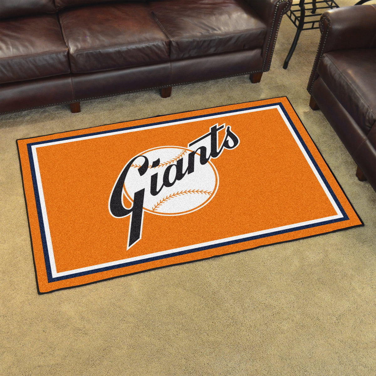 MLB Retro - 4' x 6' Rug MLB Retro Mats, Plush Rugs, 4x6 Rug, MLB, Home Fan Mats New York Giants