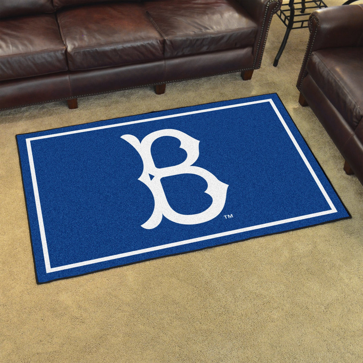 MLB Retro - 4' x 6' Rug MLB Retro Mats, Plush Rugs, 4x6 Rug, MLB, Home Fan Mats Brooklyn Dodgers 2