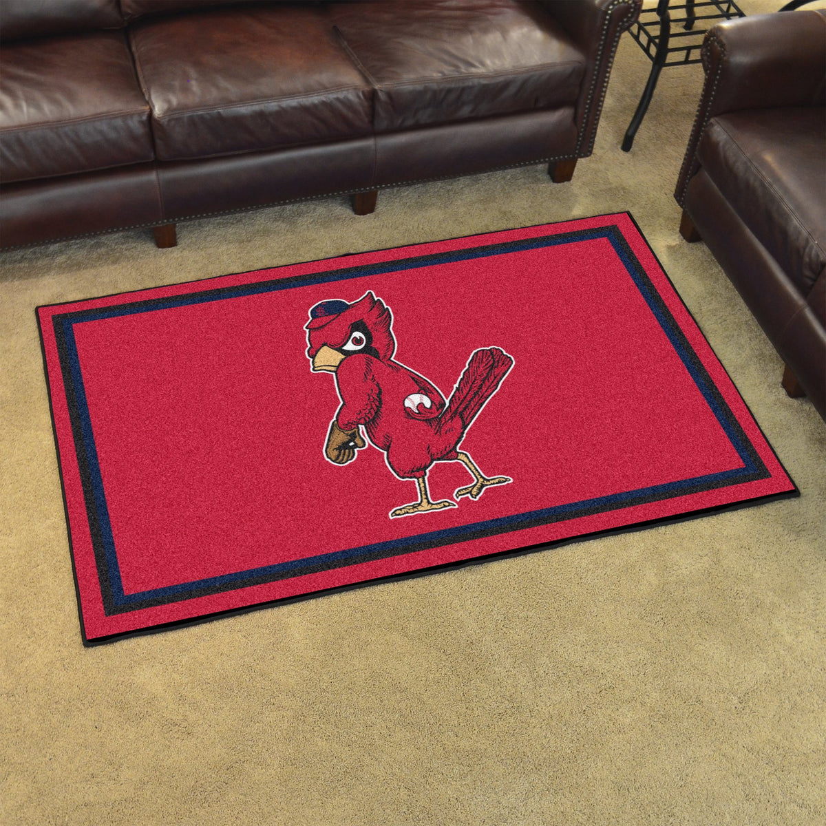 MLB Retro - 4' x 6' Rug MLB Retro Mats, Plush Rugs, 4x6 Rug, MLB, Home Fan Mats St. Louis Cardinals 2