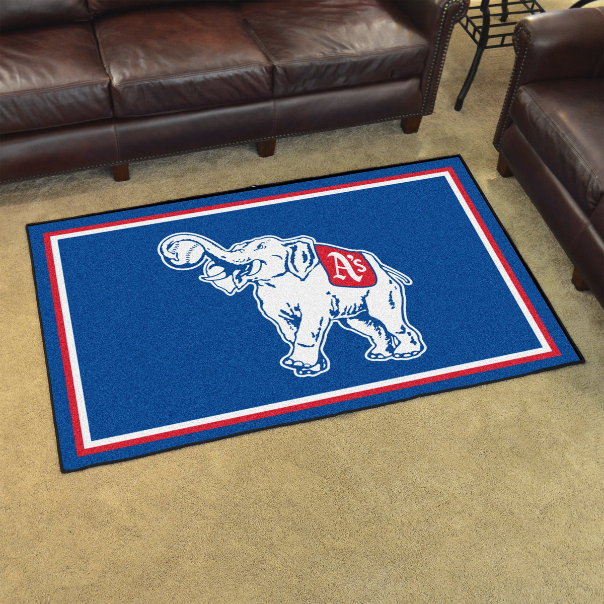 MLB Retro - 4' x 6' Rug MLB Retro Mats, Plush Rugs, 4x6 Rug, MLB, Home Fan Mats Philadelphia Athletics