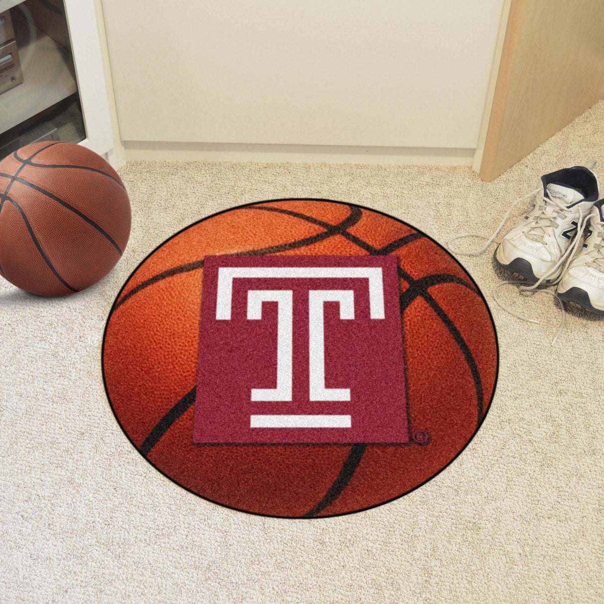 Collegiate - Basketball Mat: T - Z Collegiate Mats, Rectangular Mats, Basketball Mat, Collegiate, Home Fan Mats Temple