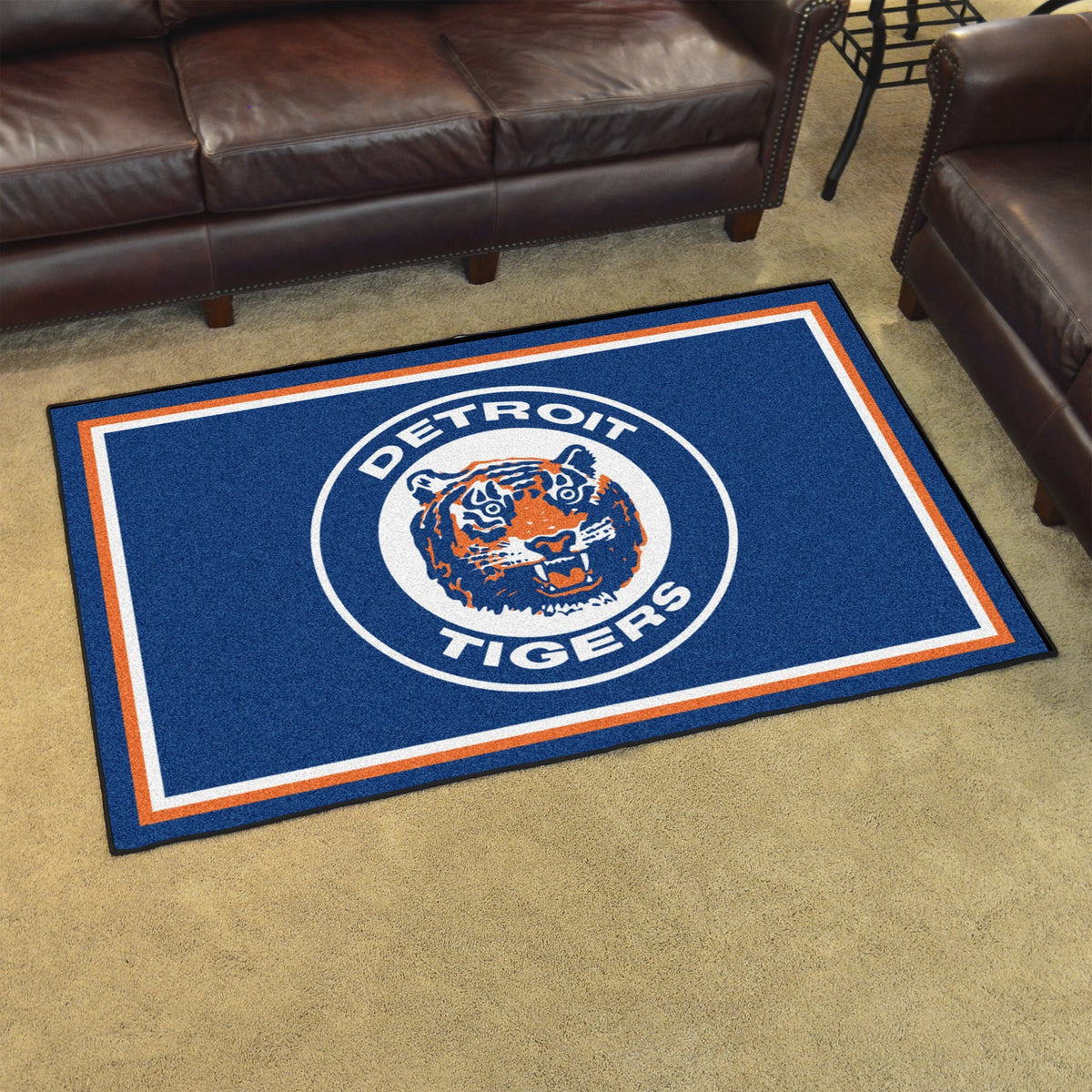 MLB Retro - 4' x 6' Rug MLB Retro Mats, Plush Rugs, 4x6 Rug, MLB, Home Fan Mats Detroit Tigers