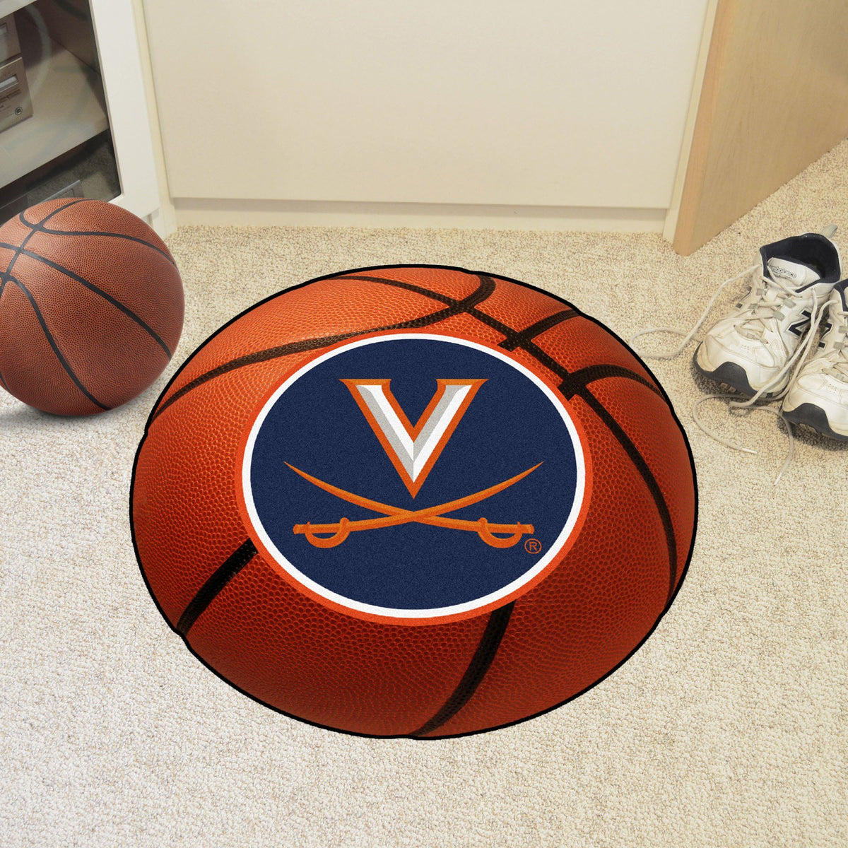 Collegiate - Basketball Mat: T - Z Collegiate Mats, Rectangular Mats, Basketball Mat, Collegiate, Home Fan Mats Virginia