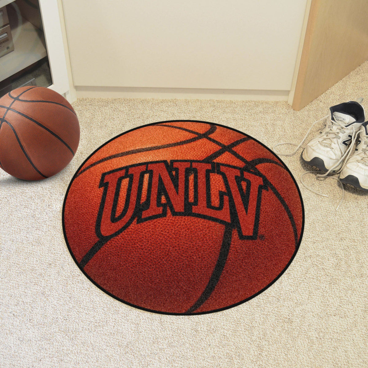 Collegiate - Basketball Mat: T - Z Collegiate Mats, Rectangular Mats, Basketball Mat, Collegiate, Home Fan Mats UNLV