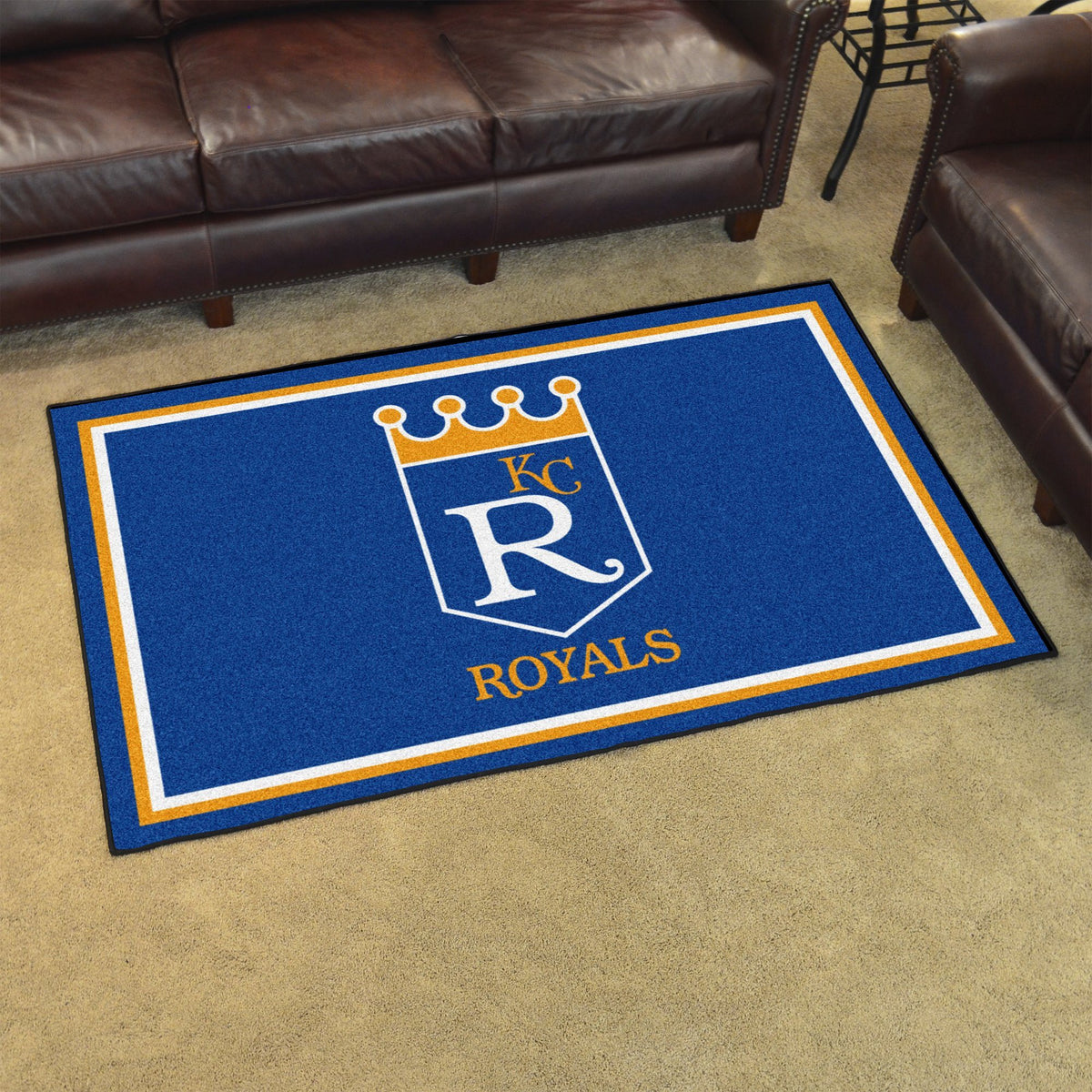 MLB Retro - 4' x 6' Rug MLB Retro Mats, Plush Rugs, 4x6 Rug, MLB, Home Fan Mats Kansas City Royals