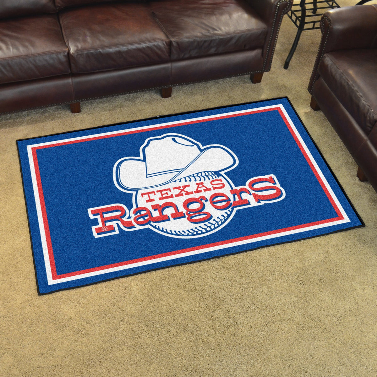 MLB Retro - 4' x 6' Rug MLB Retro Mats, Plush Rugs, 4x6 Rug, MLB, Home Fan Mats Texas Rangers