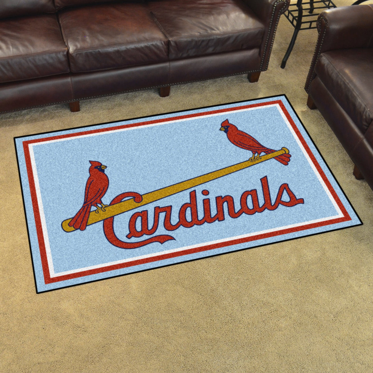 MLB Retro - 4' x 6' Rug MLB Retro Mats, Plush Rugs, 4x6 Rug, MLB, Home Fan Mats St. Louis Cardinals 3